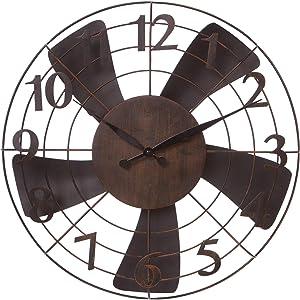 """20"""" Vintage Metal Fan Wall Clock"""