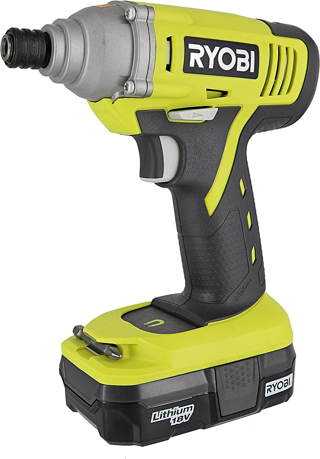 Ryobi P1870 18V Lithium Ion Battery Powered 1 4 Inch 1,500 Inch Pound Impact Driver Kit P234 Impact Driver, P102 18V Battery and P119 Charger Included