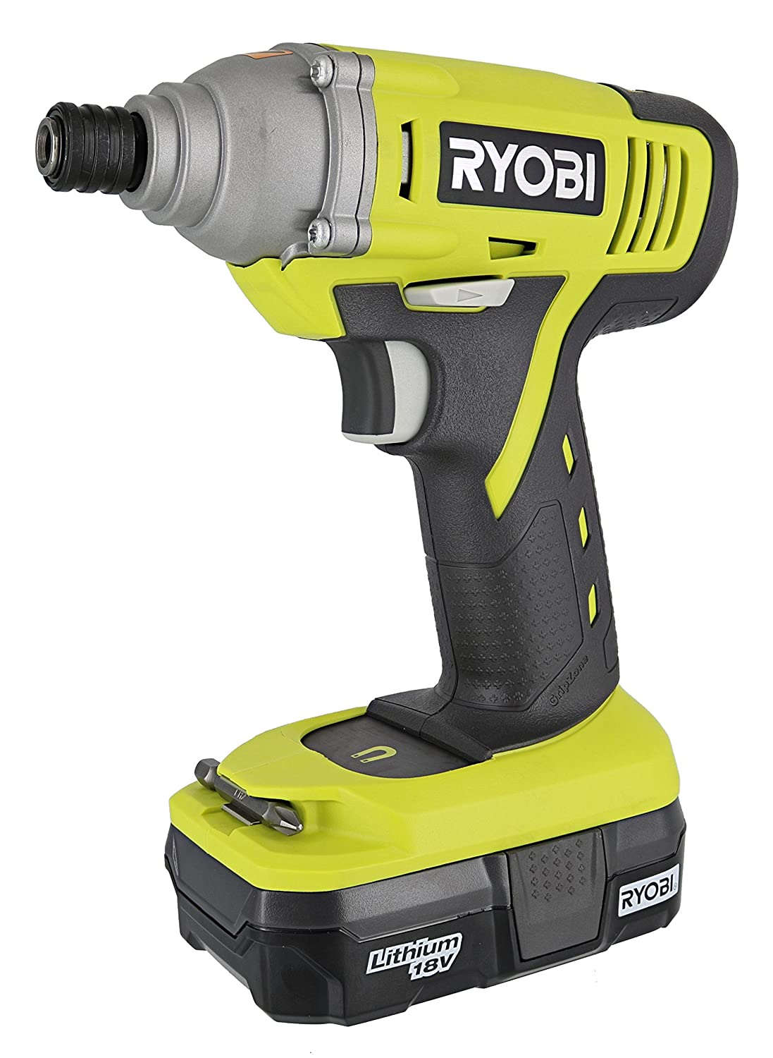 Ryobi P1870 One+ Lithium Ion Battery Powered 1/4 Inch 1,500 Inch Pound Impact Driver Kit (P236 Impact Driver, P102 18V Battery and P119 Charger Included)