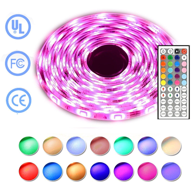 Simfonio LED Light Strip - RGB LED Strip Light 5M 150LEDs 5050SMD LED Strip Lights Full Kit