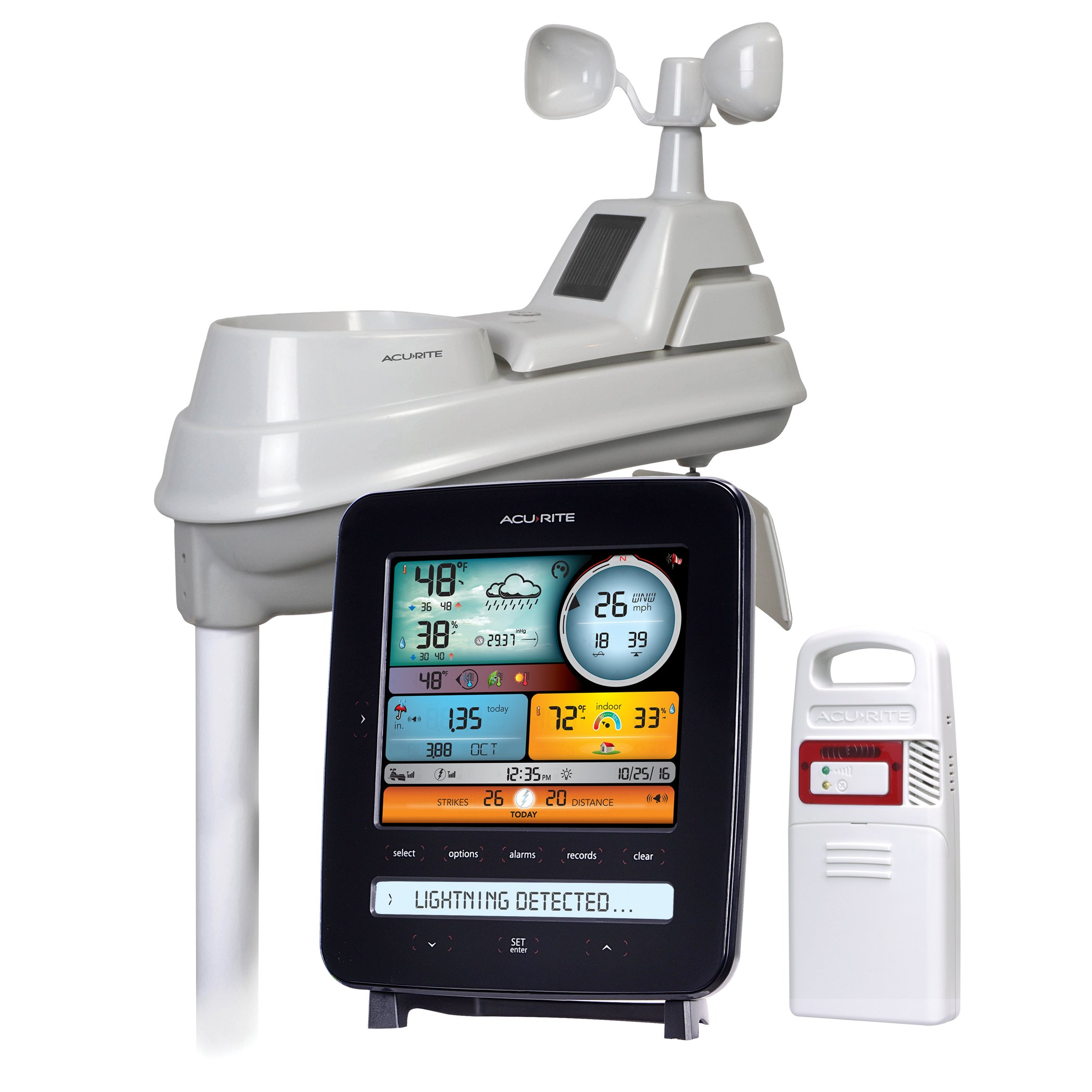 AcuRite 01022M Pro Station with Lightning, Rain, Wind, Temperature, Humidity and Weather Ticker, Detection by AcuRite
