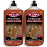 Weiman Wood Floor Polish and Restorer 32 Ounce - High-Traffic Hardwood Floor, Natural Shine, Removes Scratches, Leaves…