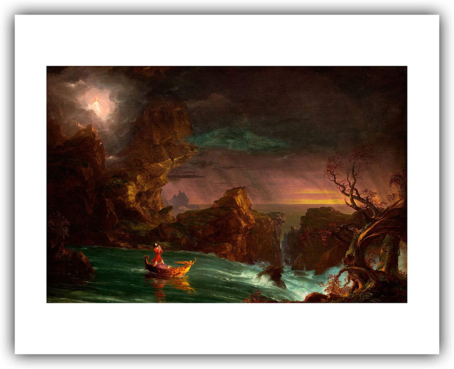 THE VOYAGE OF LIFE CHILDHOOD A THOMAS COLE PAINTING ART REAL CANVAS GICLEE PRINT