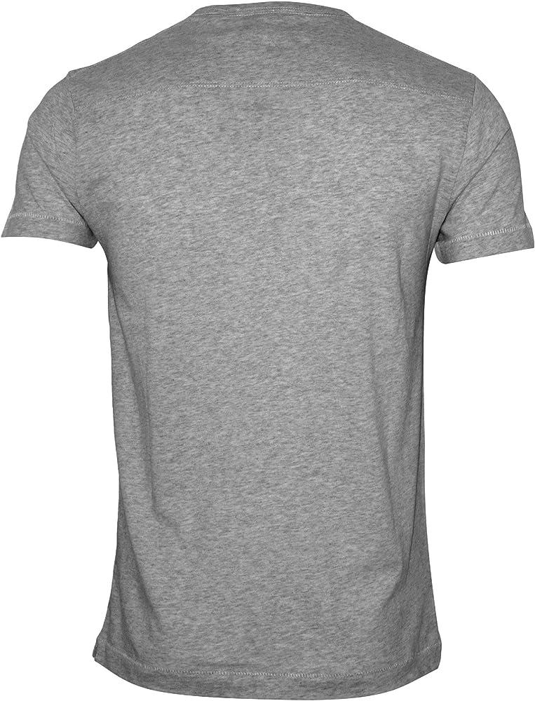 French Connection Crew-Cuello Jersey Hombres Camiseta, Gris Claro Vigor Pequeño: Amazon.es: Ropa y accesorios