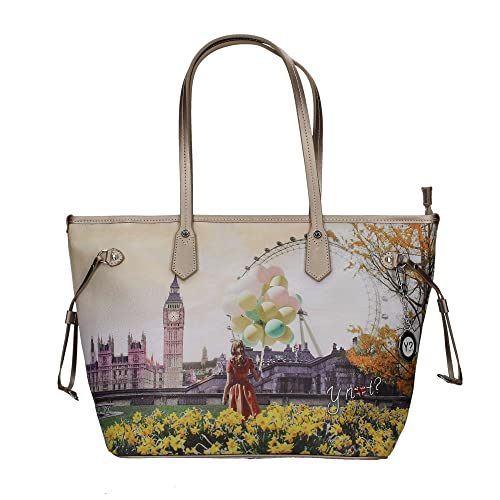 Borsa donna Y Not London Flower J-319 Shopping grande  Amazon.it  Scarpe e  borse 5f663c00f94