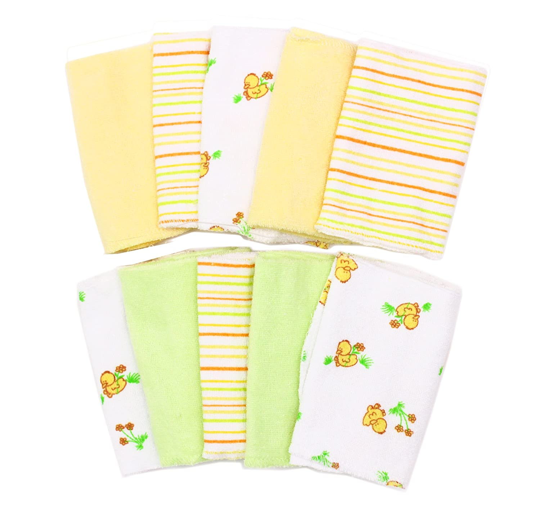 Spasilk 10 pack Soft Terry Washcloth, Pink 010-003