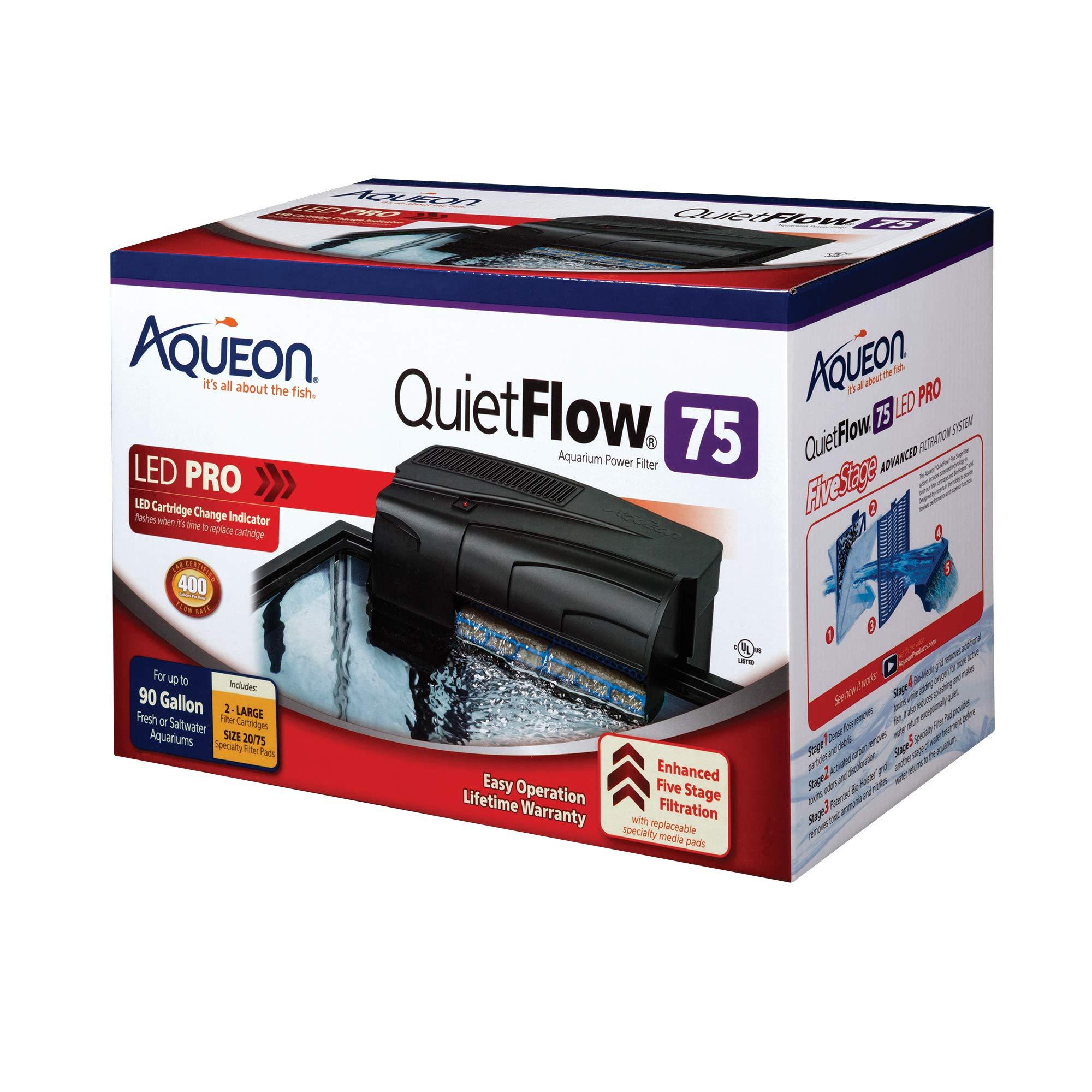 Aqueon QuietFlow LED PRO Aquarium Power Filters, Size 75-400GPH by Aqueon (Image #2)