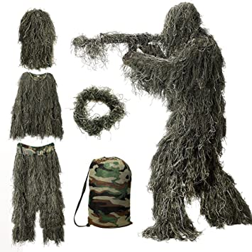 Amazon.com: MOPHOTO - Traje de 5 en 1 para caza Ghillie ...