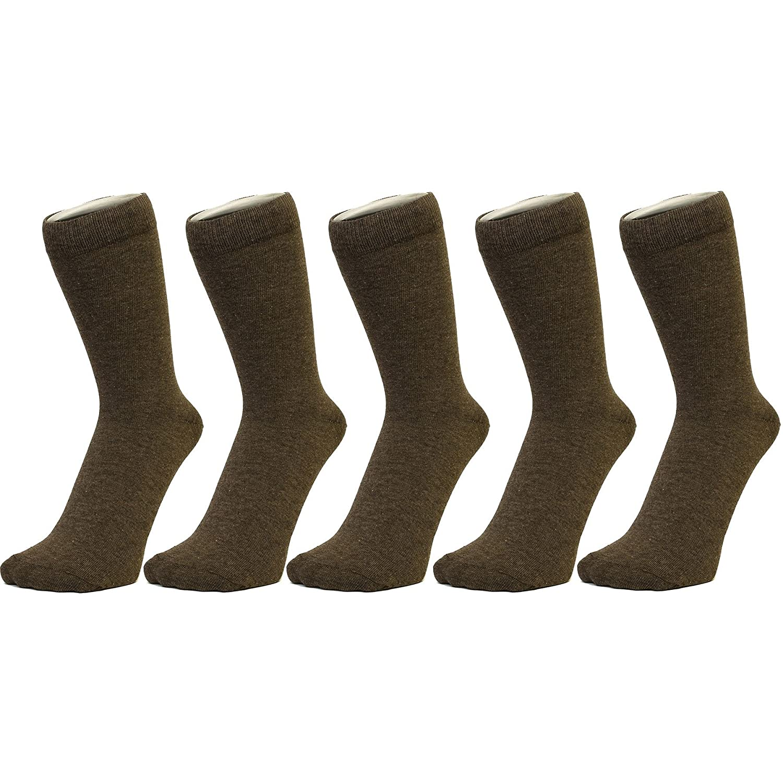 Plain Brown Ankle Socks Size: 4-7