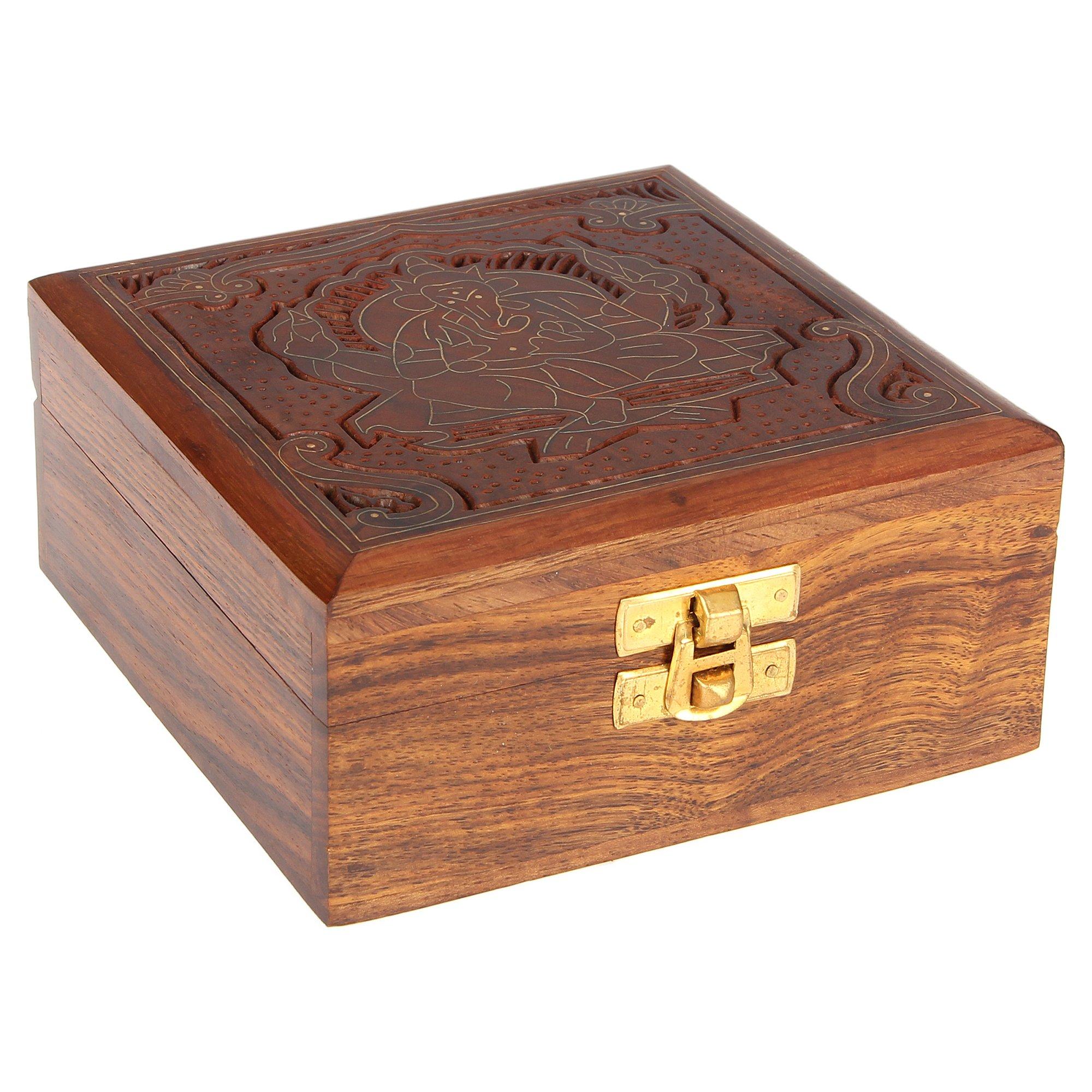 ShalinIndia Handmade Indian Wood Jewelry Box - Jewelry Box for Girls and Ladies Best Gifts for Women