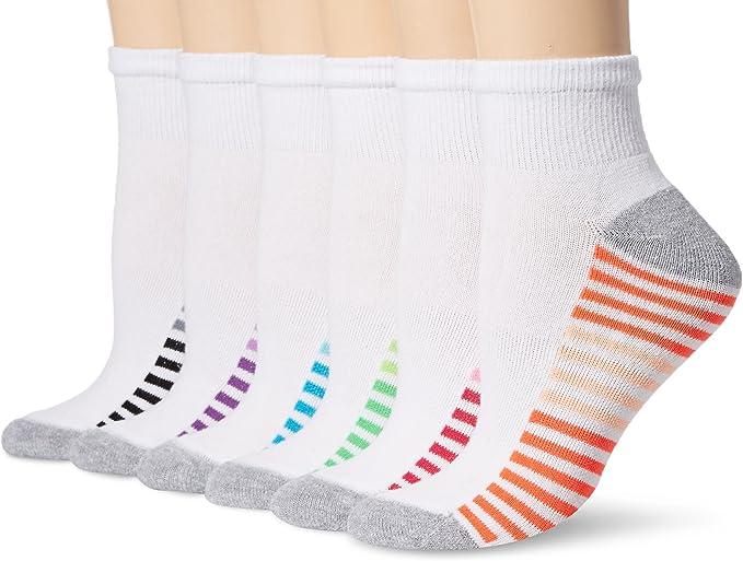 Women 6-Pack Ankle Socks Hanes Sport Cool Comfort Super soft Shoe sz 8-12 or 5-9