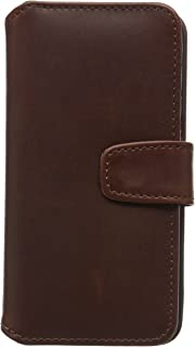 product image for QUBITS Real Leather Wallet Case with Card Slots and Bill Compartment for Samsung Galaxy S6 Edge - Brown