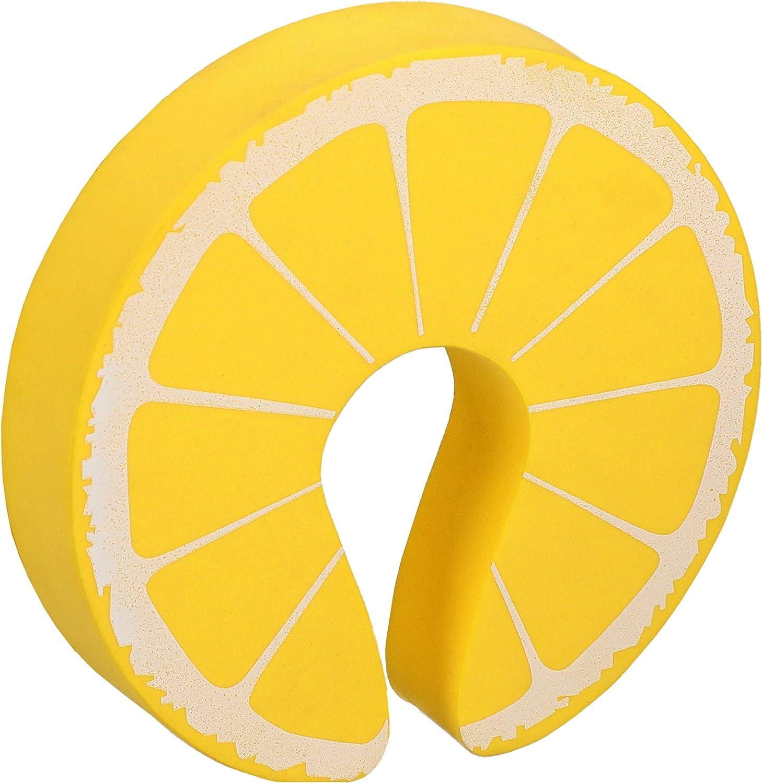 Fester Schaumstoff gelb mumbi T/ürstopper Klemmschutz f/ür T/üren und Fenster Zitrone 2er Set