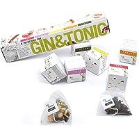 6 Gin Tonic infusions Aroma Beuteln Botanicals Geschenk - Aromen zum Verfeinern Ihres Gin. 100% natürliche Gewürze, Kräuter und Blumen machen Ihren Gin and Tonic