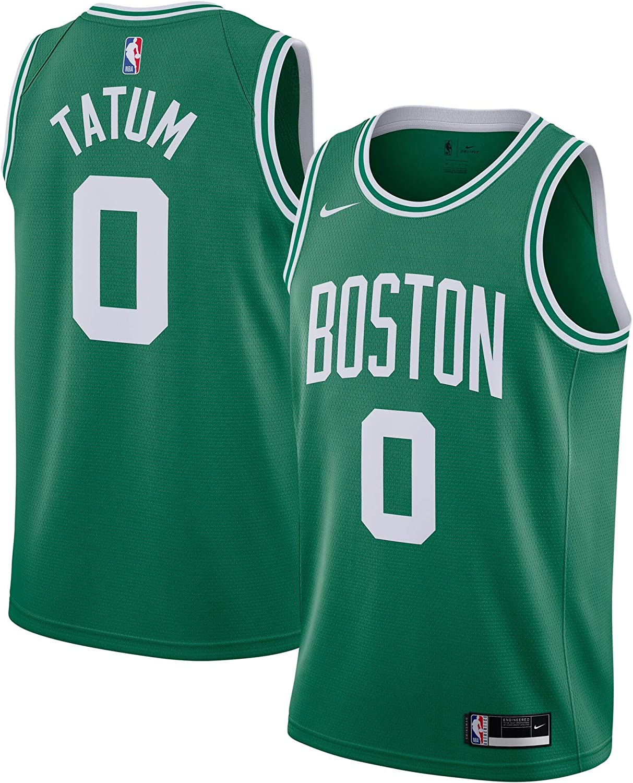 Nike Jayson Tatum Boston Celtics NBA Boys Youth 8-20 Green Home Icon Edition Dri-Fit Swingman Jersey