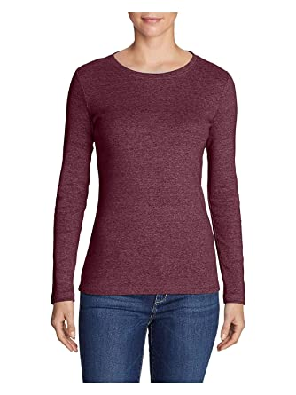 1f7878af26 Eddie Bauer Women s Favorite Long-Sleeve Crewneck T-Shirt at Amazon Women s  Clothing store