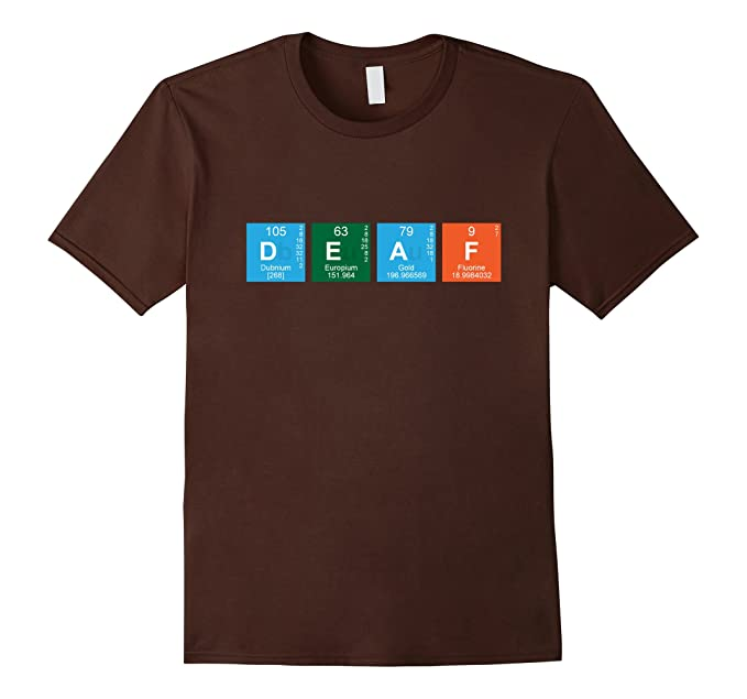 Amazon asl american sign language t shirt periodic table mens asl american sign language t shirt periodic table 3xl brown urtaz Image collections