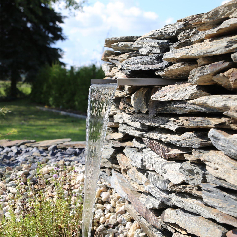 laghetto e piscina per giardino CLGarden Elemento per cascata in acciaio INOX