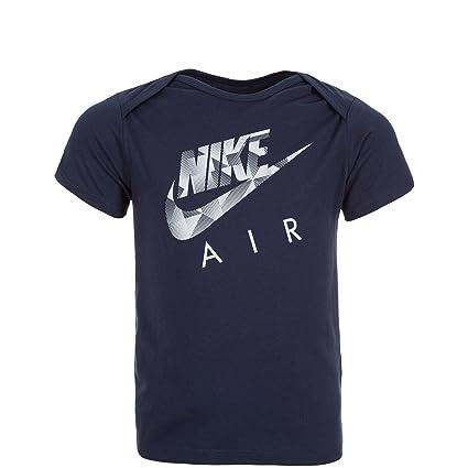 Nike Air Niños Camiseta de Niños, Infantil, Air T-Shirt Kleinkinder, Azul