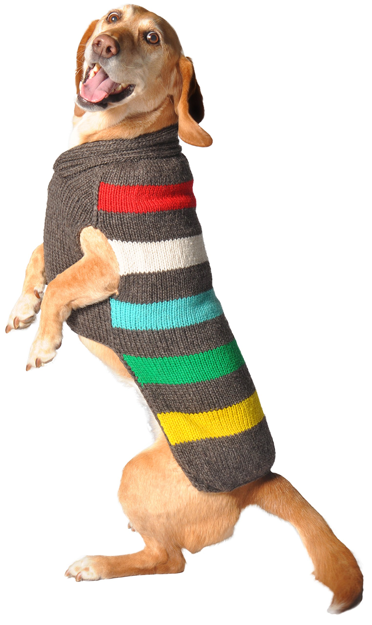 Chilly Dog Charcoal Stripe Sweater, Small by Chilly Dog