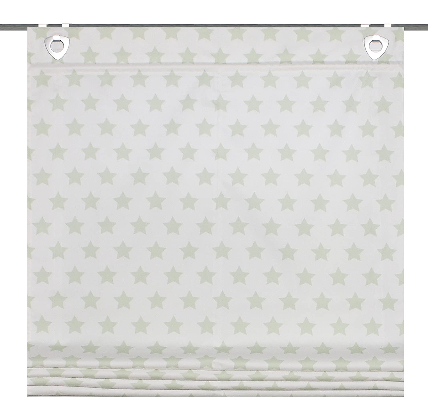FASHION FOR HOME Home Fashion 91133 – Panel Roman Blind 140 x 60 cm Decorative Fabric Printed Green 91133-768 - H: 140 x B: 60 cm