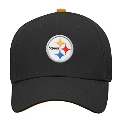 Outerstuff NFL NFL Pittsburgh Steelers Youth Boys Basic Structured  Adjustable Hat Black e7d69c24b29