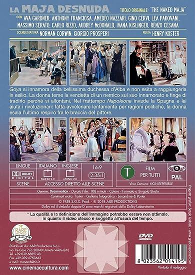Dvd - Maja Desnuda (La) (1 DVD): Amazon.co.uk: Ava Gardner ...