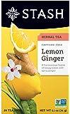 Stash Tea Lemon Ginger Herbal Tea Caffeine Free, 20 Sobres