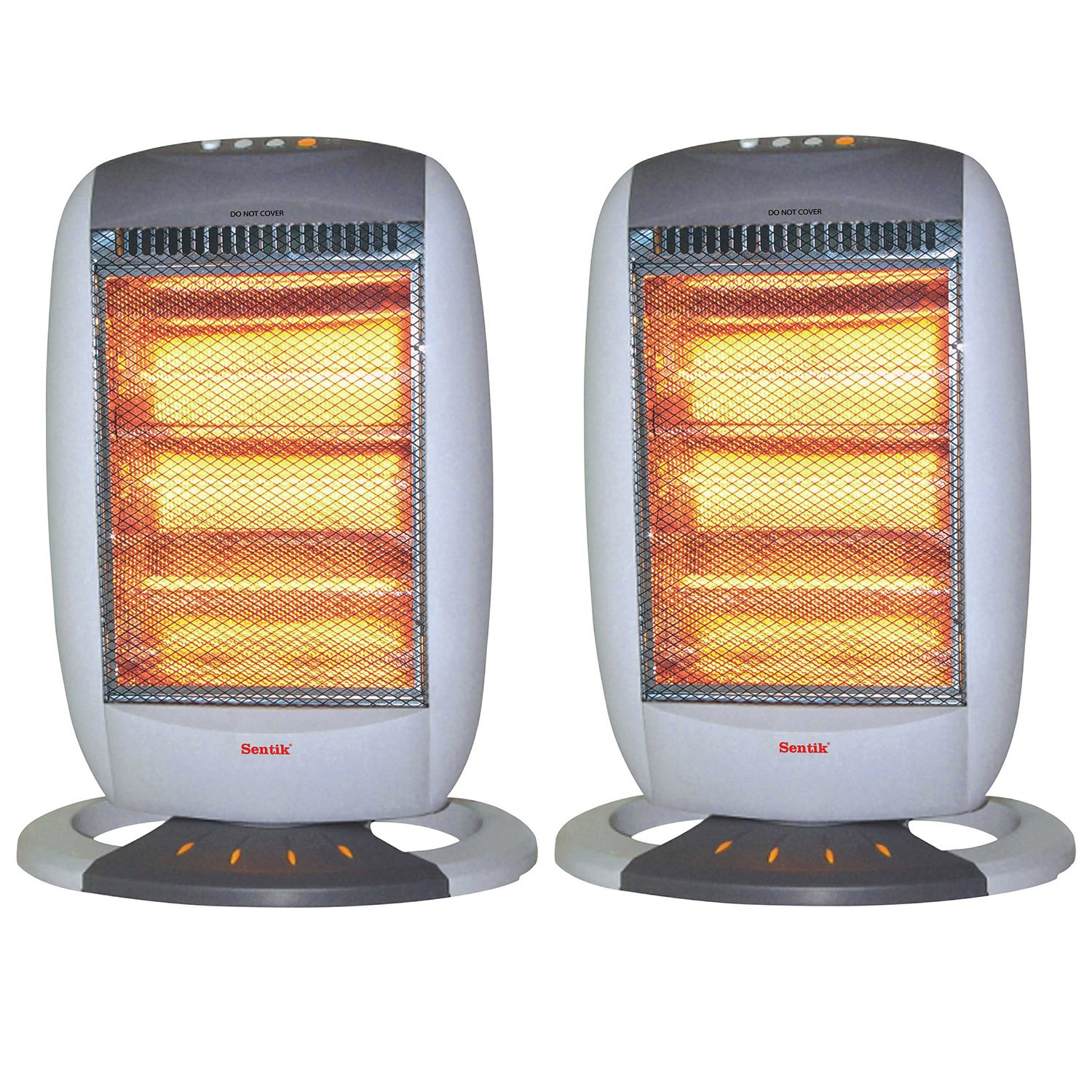 2 x Sentik 1200W Portable Electric Halogen Heater, 3 Heat Settings