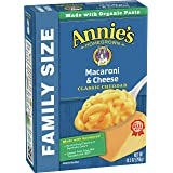 Annie's Family Size Classic Mild Cheddar Macaroni & Cheese 6 Boxes, 10.5oz (Pack of 6)