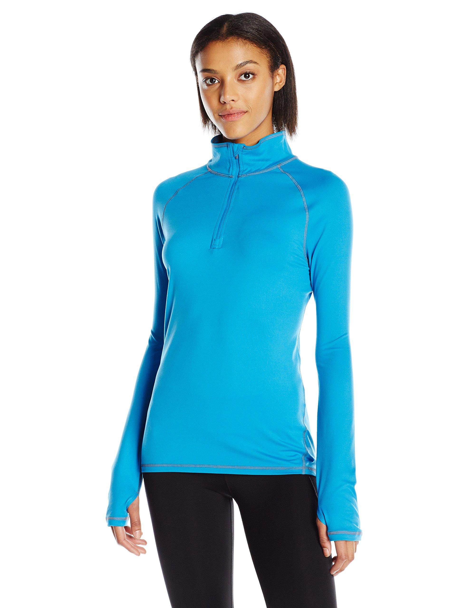 Hanes Women's Sport Performance Fleece Quarter Zip Pullover, Underwater Blue, M