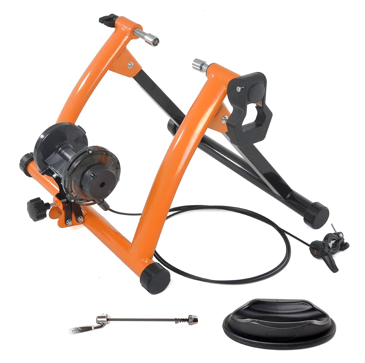 amazoncom conquer indoor exercise bike trainer stand orange sports outdoors