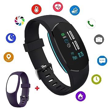KW18 - Reloj inteligente con Bluetooth, pantalla táctil con tarjeta SIM y ranura para tarjeta