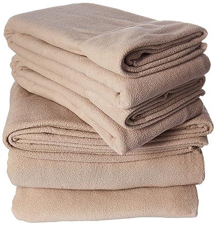 Peak Performance 3M Scotchgard Micro Fleece King Bed Sheets Set, Casual  Micro King Bed Sheets