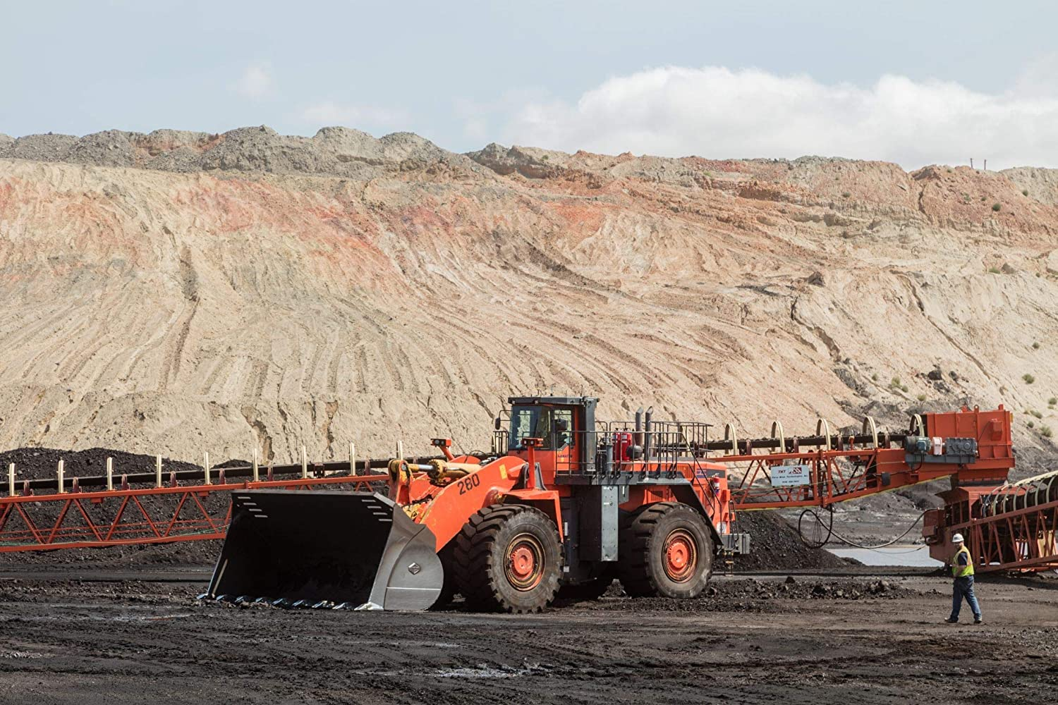 24 x 36 Giclee Print ofMassive Machinery at Work in The Open-Pit Wyodak Coal Mine in The Coal-Rich Powder River Basin Outside Gillette Wyoming y71 2015 Highsmith