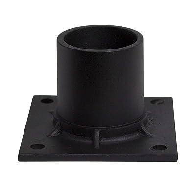 Solus Black Aluminum Pier Mount Adapter Base for 3'' Diameter Stub Post. Mounting Hardware Included
