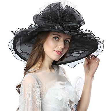 990b2740 Janey&Rubbins Women's Kentucky Derby Racing Horse Hat Church Wedding Dress  Party Occasion Cap (BF-