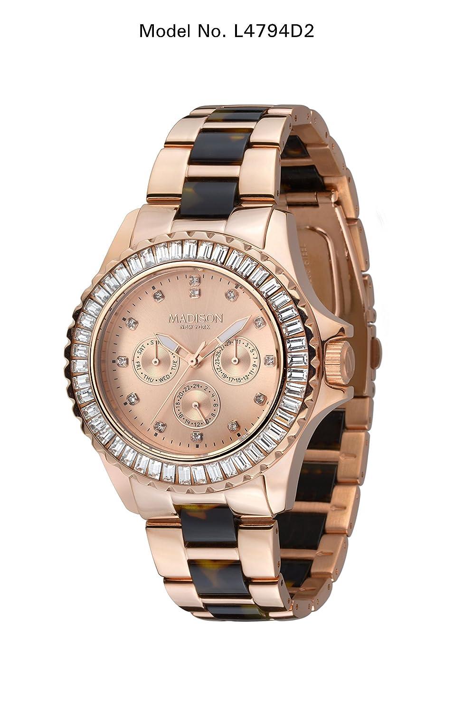 Madison New York Glamor Damen Armbanduhr Pamela L4794D2