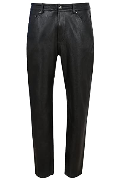 Smart Range Pantalones de Cuero para Hombres Pantalones de ...