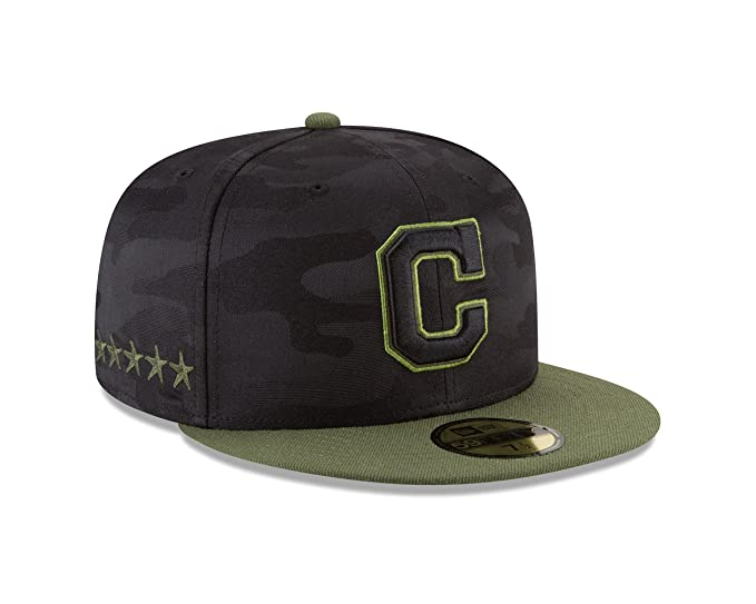 New Era Cleveland Indians 2018 Memorial Day On-Field 59FIFTY - Gorro  ajustable (7 d8b2c1206e1