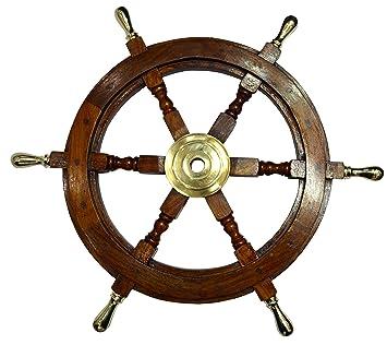 Ship Wheel Ships Steering Wheel Nautical Wheel Wood Wheel Ships Wheel  Vintage Nautical Decor Nautical Furniture