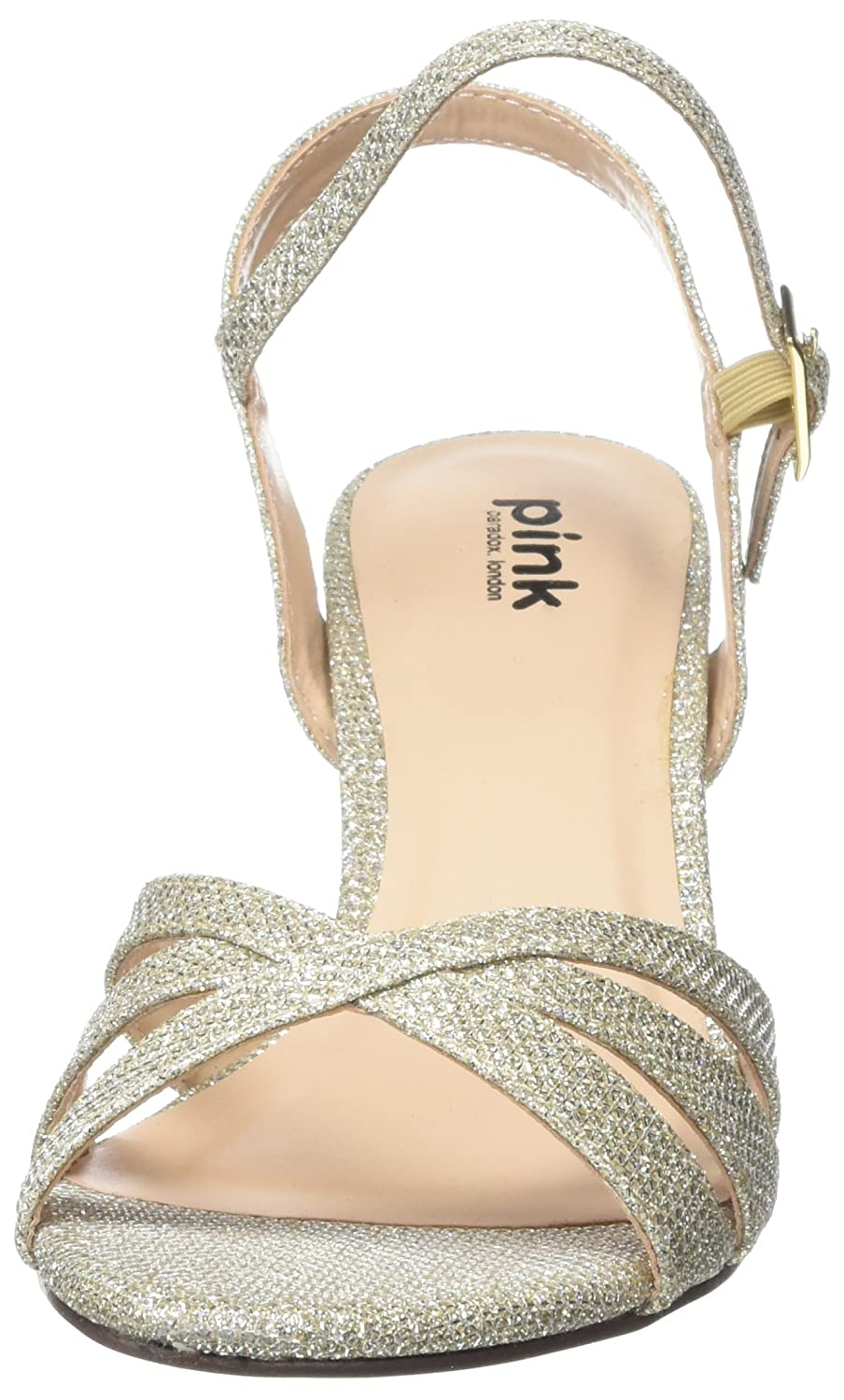 58da0e421d7 Pink by Paradox of London Women s Shelby Ankle Strap Sandals  Amazon.co.uk   Shoes   Bags