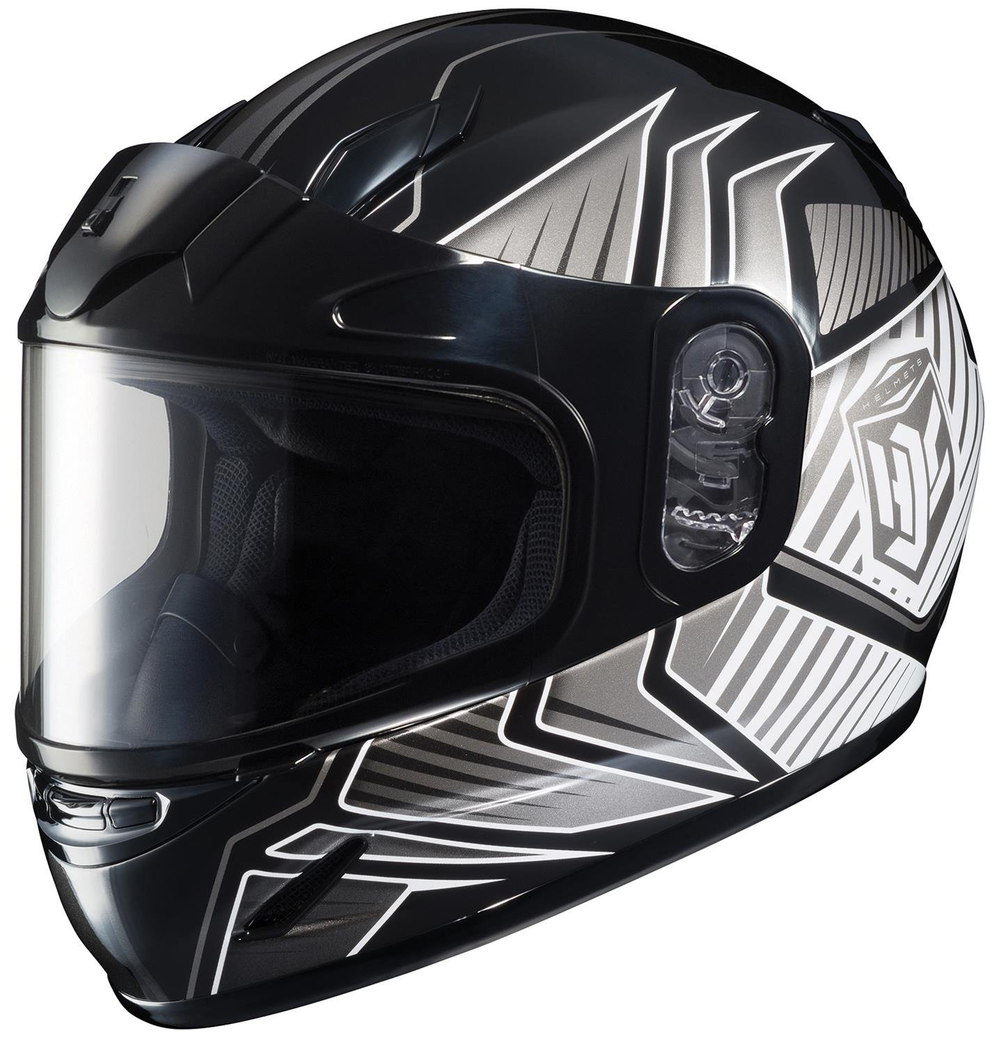HJC CL-YSN Redline Full Face Youth Snow Helmet Framed Dual Lens Shield (MC-5 Silver, Small)