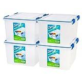 Amazon Price History for:Ziploc WeatherShield 44 Quart Storage Box, 4 Pack, Clear