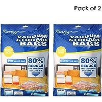 Kurtzy Vacuum Storage Reusable Ziplock Space Saver Bags