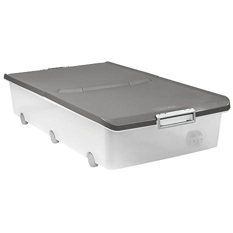TATAY 1151122 - Aufbewahrungsbox für unter das Bett mit Rollen, 63 l