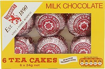 Tunnocks 6 Milk Chocolate Tea Cakes (Pack of 12): Amazon.es ...