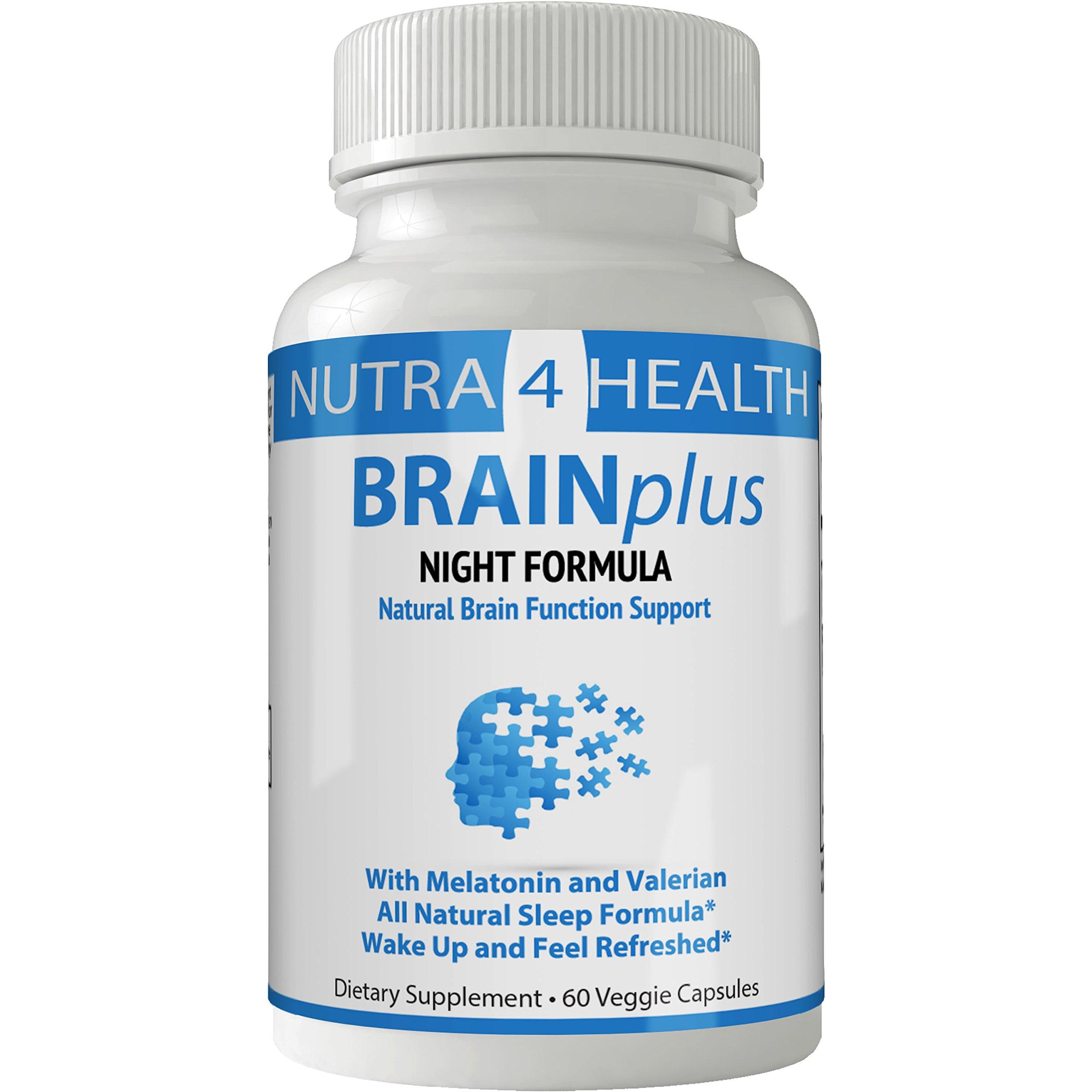 BRAINplus NIGHT Brain IQ Plus Capsules | Night Sleep Nootropics Booster Pills for Brain Plus IQ Original from nutra4health | Rapidly increase REM | Brain Booster Supplement for FOCUS, CLARITY & MEMORY