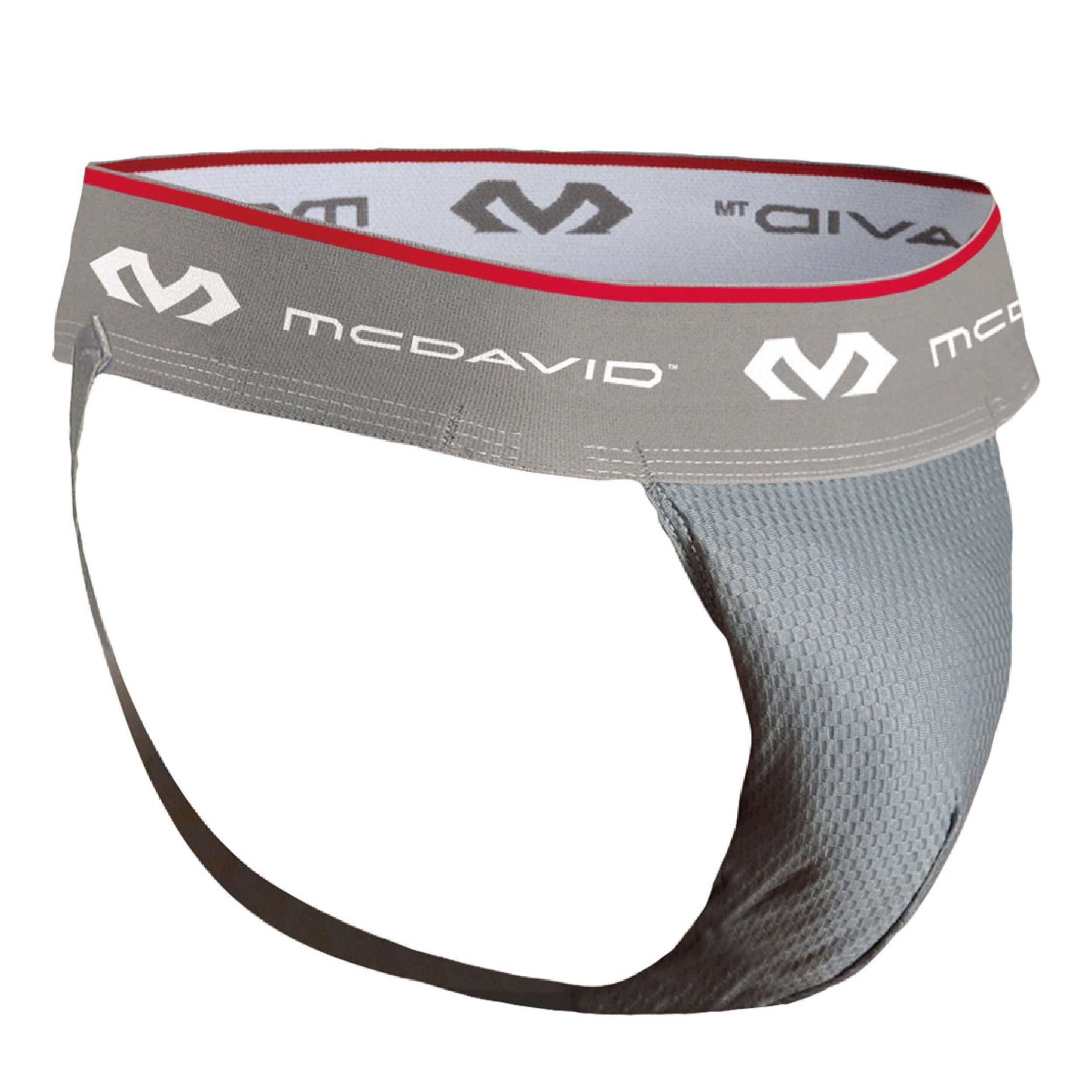 McDavid 3300 HexMesh Athletic Supporter (Grey, Large)