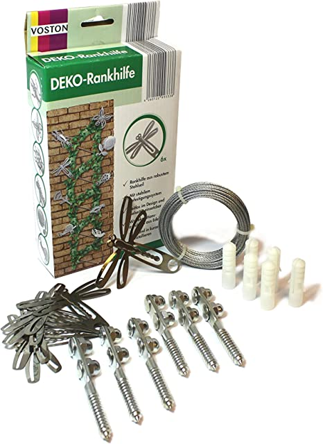 Celosía decorativa con cable de acero [ayuda de escalada Jardín Decoración] con motivos 6 [aleatorios]